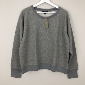 J. Crew Metallic Pullover Sweatshirt Lurex Grey